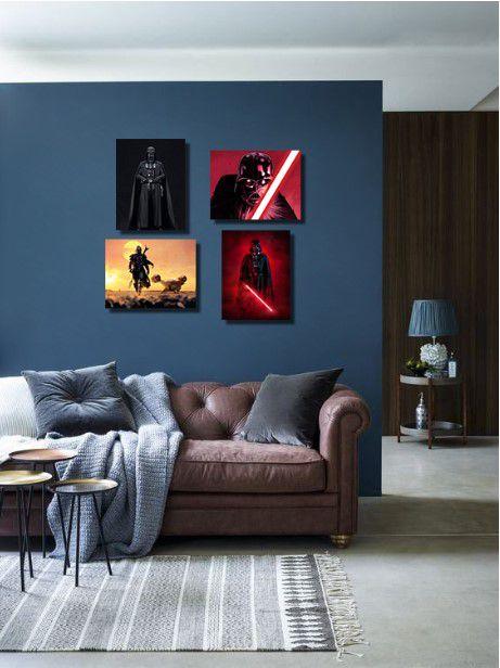 Kit Star Wars 04 quadros 20x30cm cada em Canvas