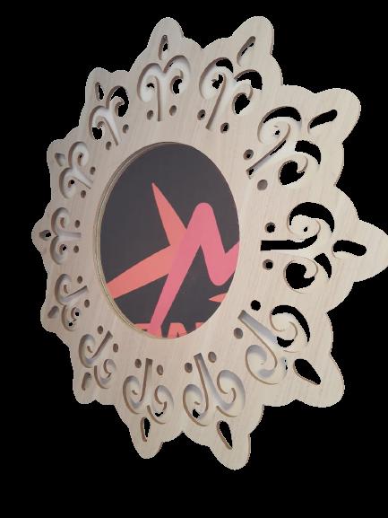 Mandala MDF Espelho Redondo - Esotérico Felicidade