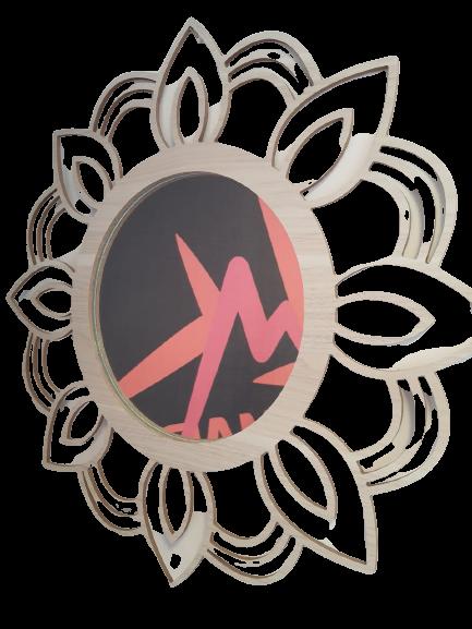 Mandala MDF Espelho Redondo - Esotérico Paz