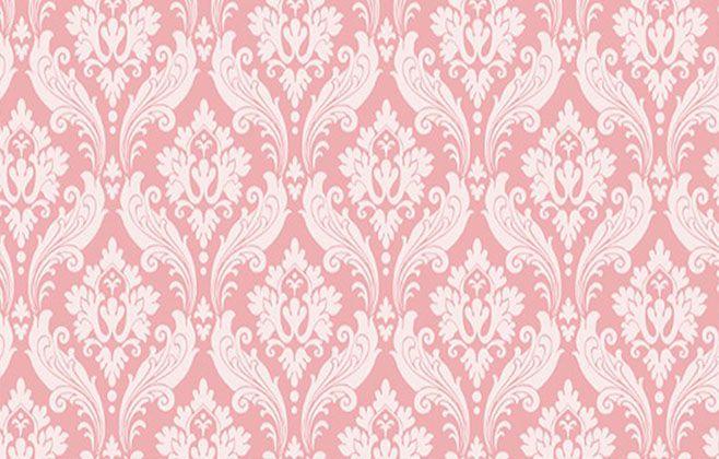 Papel de Parede Arabescos em Forma Rosa