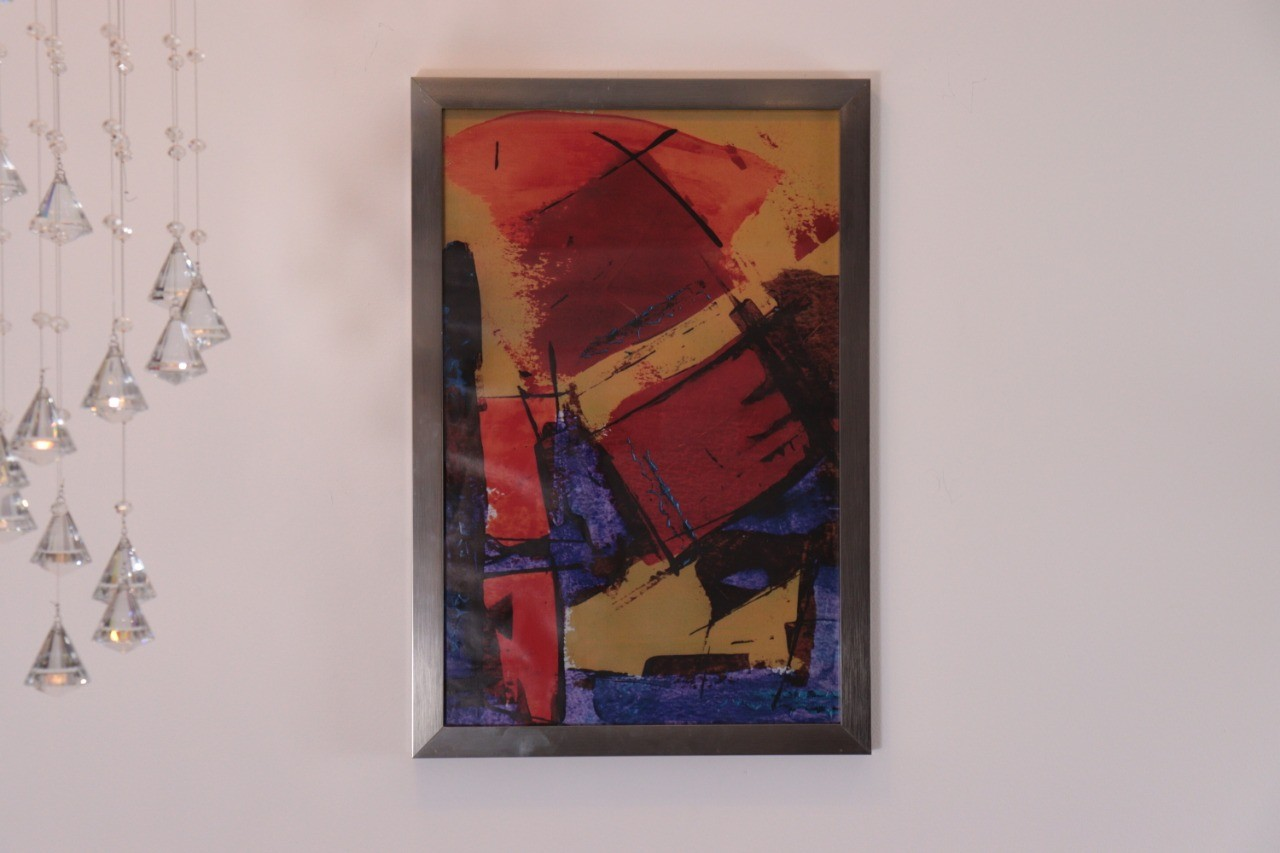 Quadro com Vidro Abstract