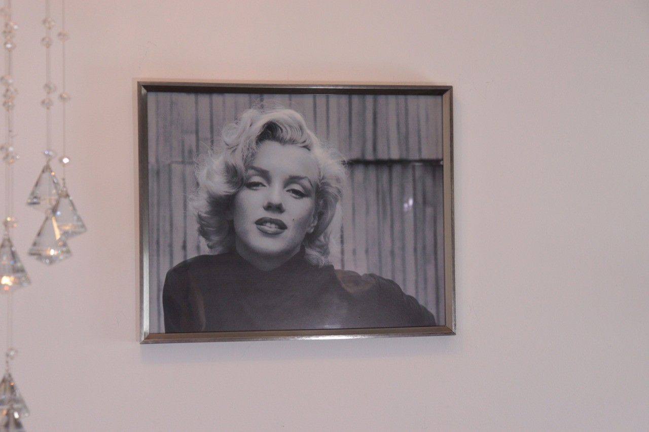 Quadro com Vidro Marilyn