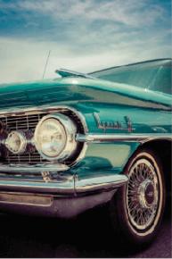 Tela Canvas Carro Vintage Verde