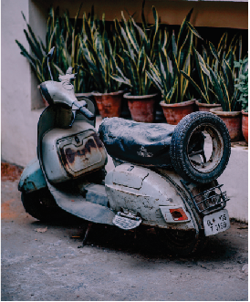 Tela Canvas Moto Retrô