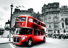 Tela Canvas Red Bus
