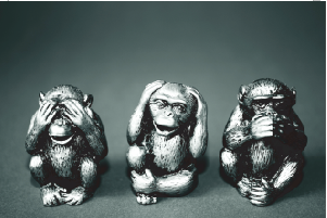 Tela Canvas Wise Monkeys