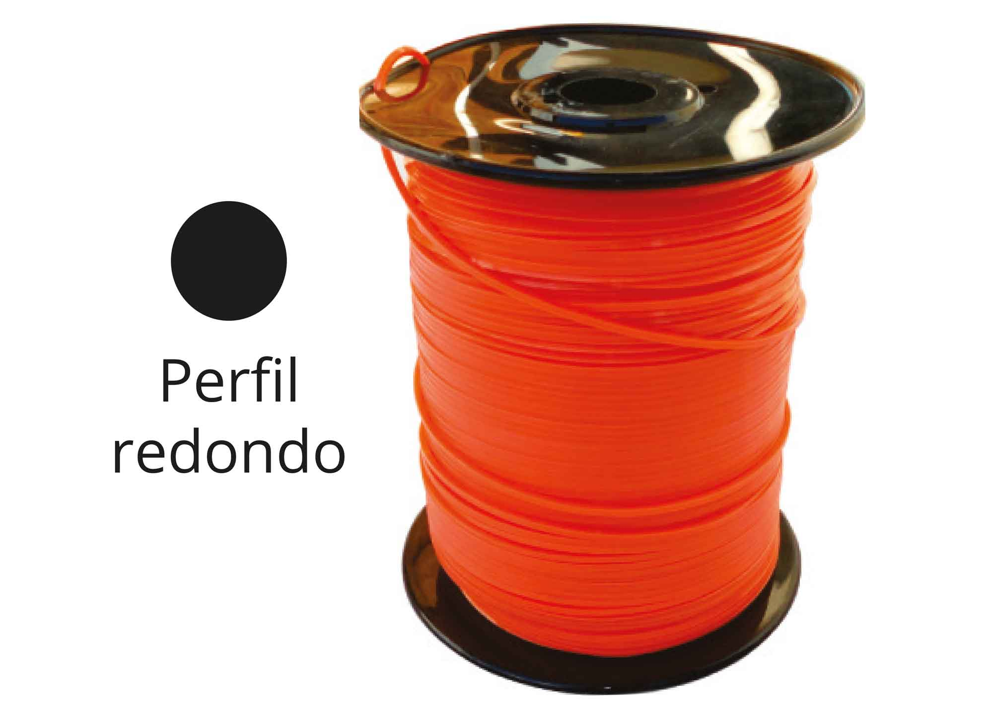 FIO NYLON RED. 3.0 MM - 2 KG/ 250 MTS