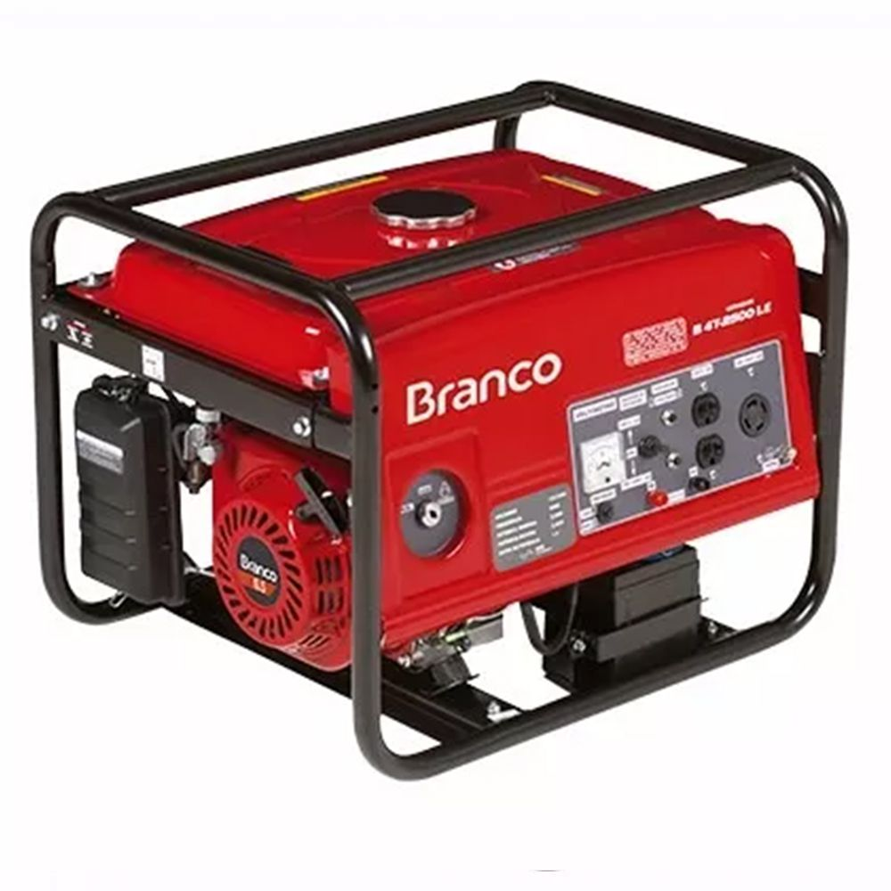 Gerador Branco B4T-2500E Gasolina 4t 6,5CV