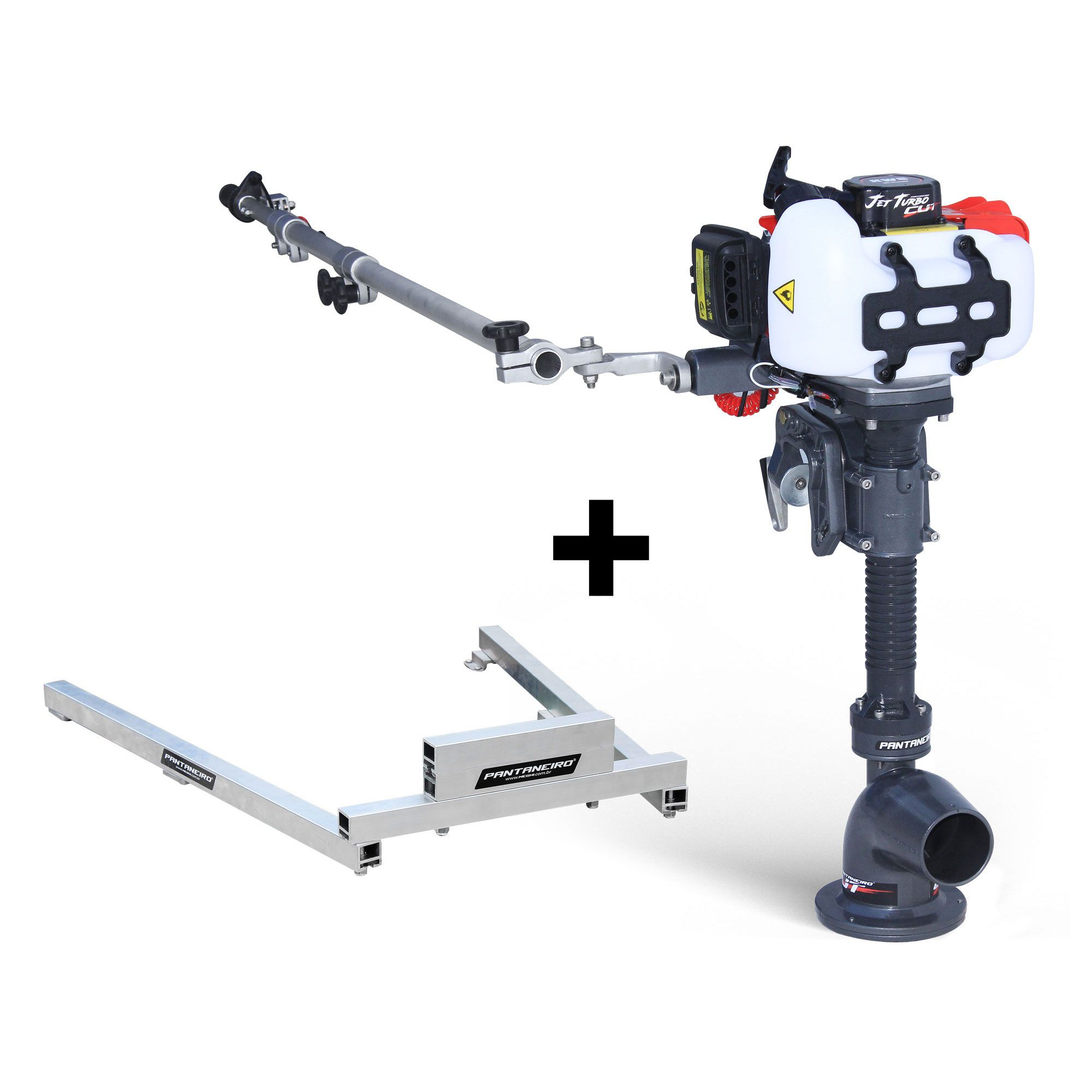 Kit Jet Turbo Cut Pantaneiro + acelerador remoto + Suporte traseiro Hook