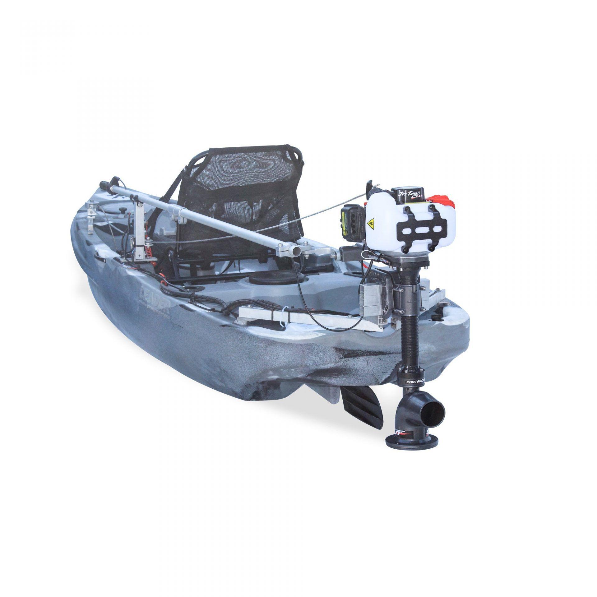 Kit Jet Turbo Cut Pantaneiro + acelerador remoto + Suporte traseiro Leader