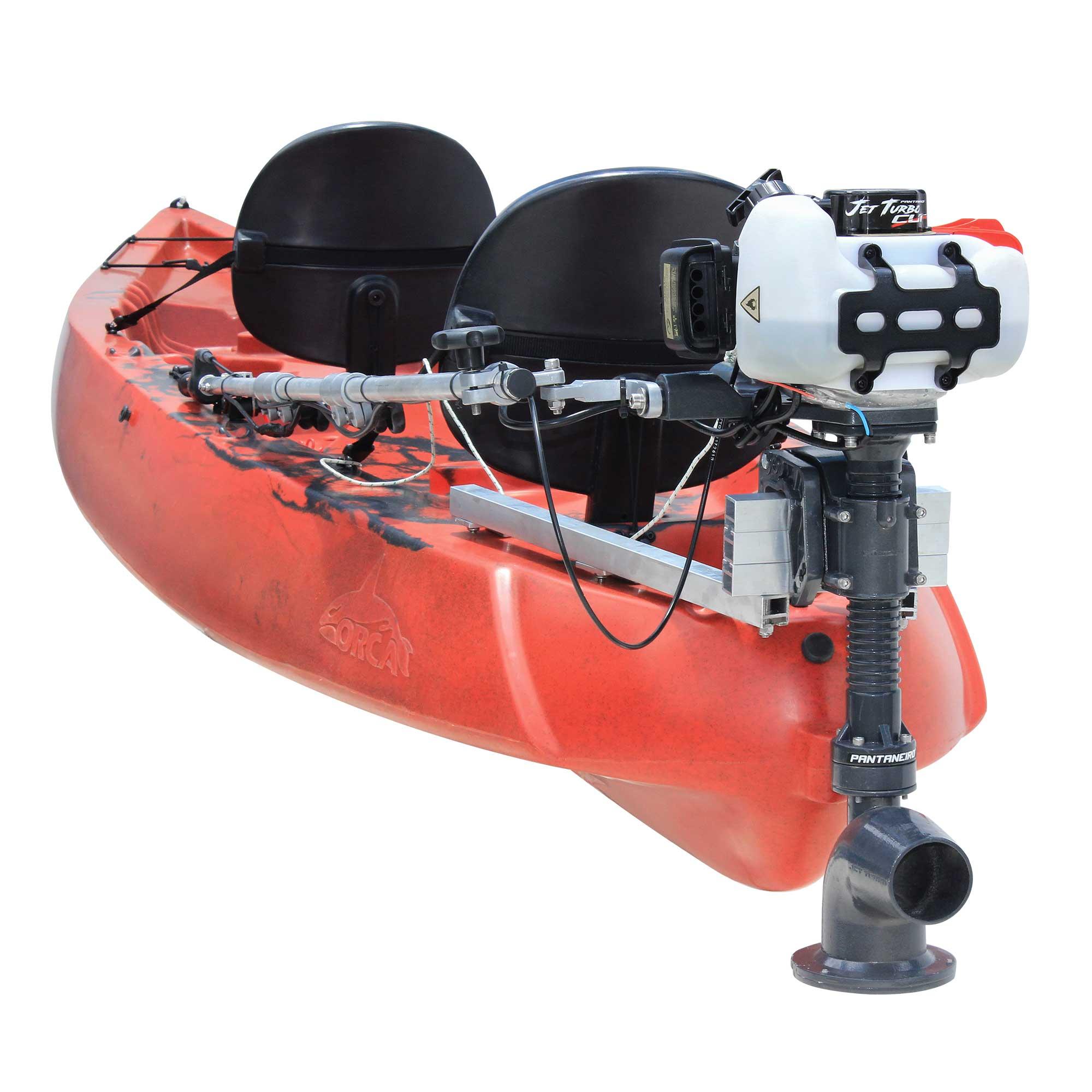 Kit Jet Turbo Cut Pantaneiro + acelerador remoto + Suporte traseiro Orca
