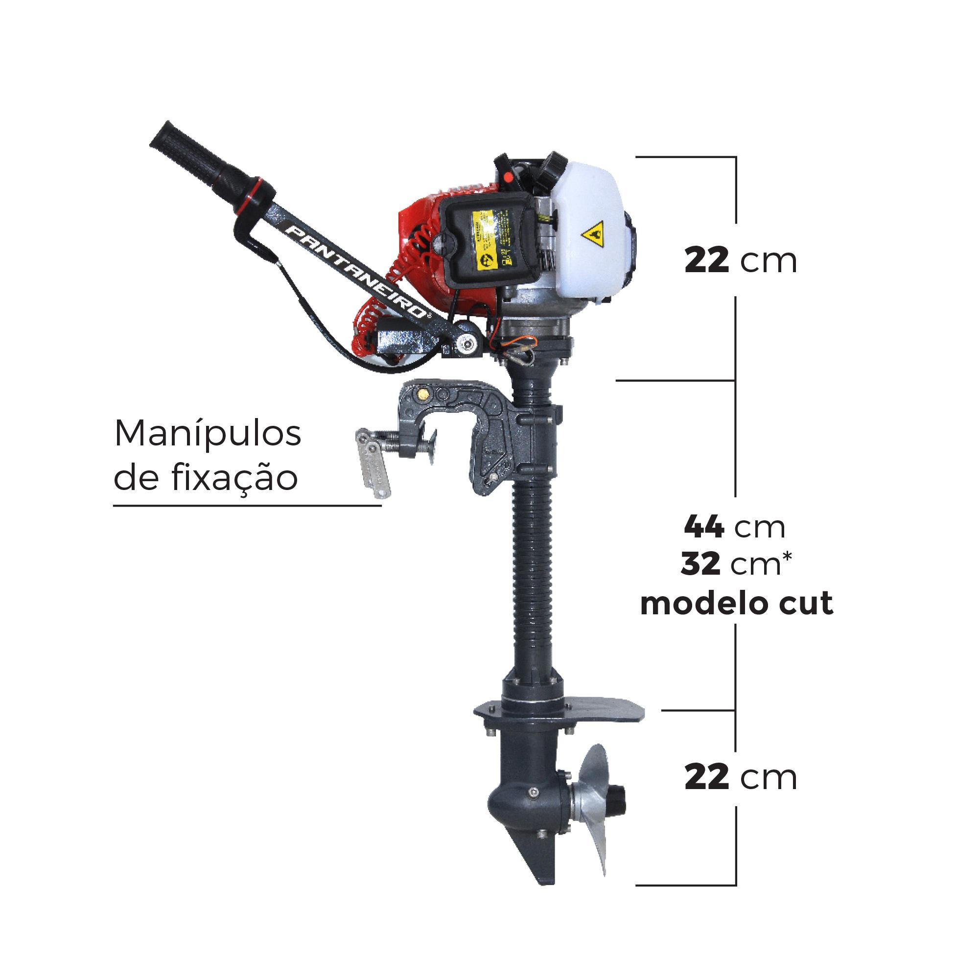 Motor para Caiaque Jet Hélice Cut com Acelerador