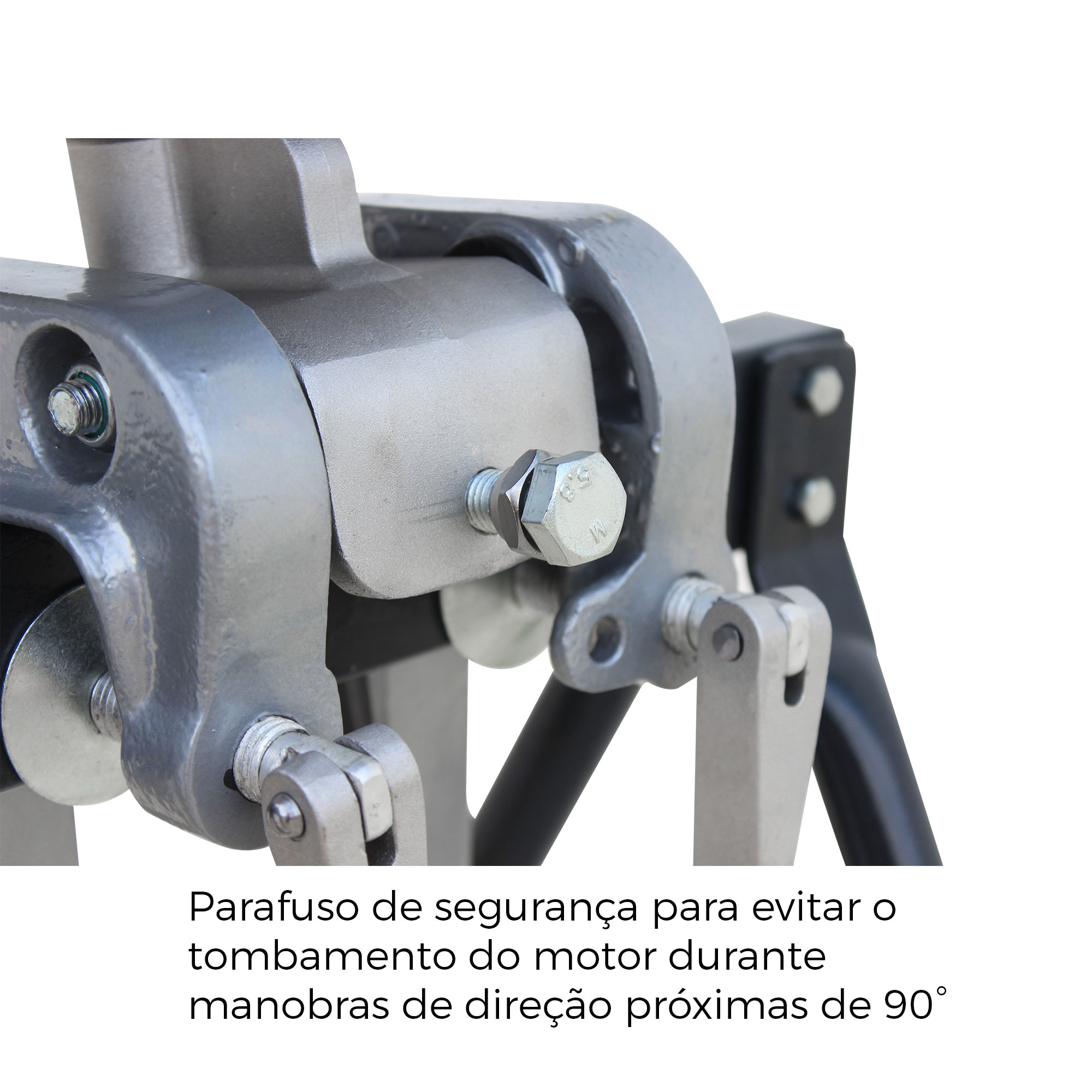 Rabeta Master Plus com tubo de alumínio 1,70m com Motor BRANCO 4T 7.0 HP Gasolina / Partida Manual