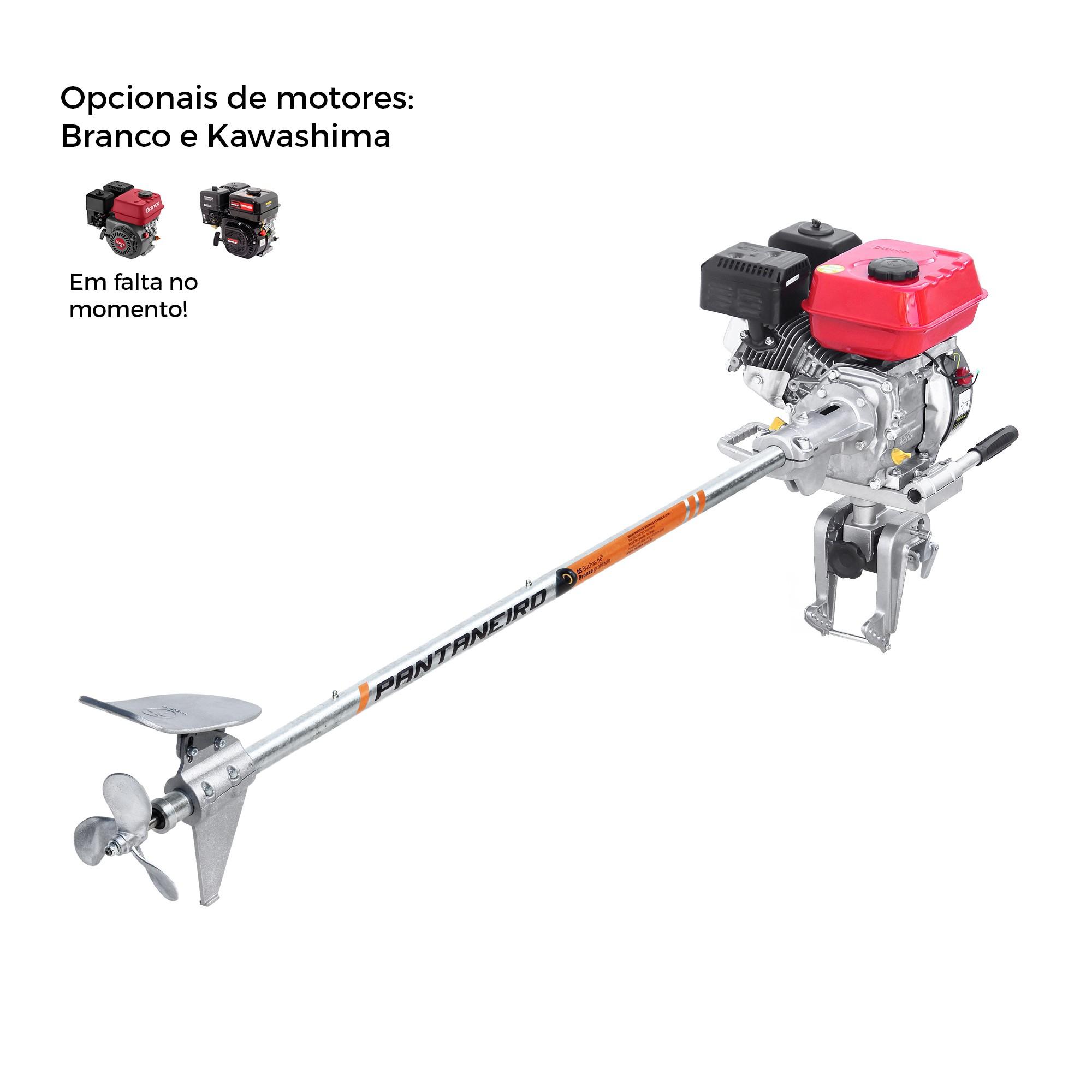 Rabeta Master Plus Pantaneiro 1,70m com Motor BRANCO 4T 7.0 HP Gasolina / Partida Manual