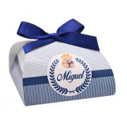 10 Lembrancinhas personalizadas caixinha para bombom ou bem nascido ursinho