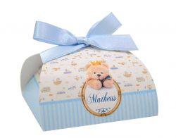 10 Lembrancinhas personalizadas caixinha para bombom ou bem nascido ursinho e meios de transporte
