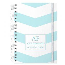 Agenda personalizada 2020 cor Tiffany