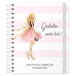 Planner 2020 personalizado listras e glamour