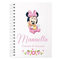 Caderneta de Vacinação e Saúde Personalizada completa menina  tema minnie baby