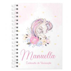 Caderneta de Vacinação e Saúde Personalizada completa menina  tema unicórnio baby