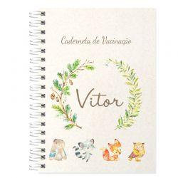 Caderneta de Vacinação e Saúde Personalizada completa tema bichinhos da floresta