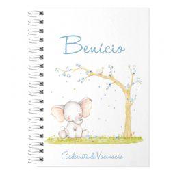 Caderneta de Vacinação Personalizada elefantinho