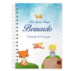 Caderneta de Vacinação e Saúde Personalizada completa tema pequeno príncipe