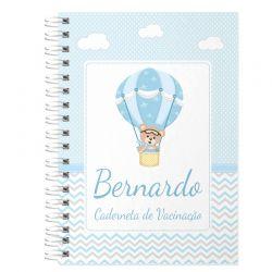 Caderneta de Vacinação e Saúde Personalizada completa tema ursinhos e balões