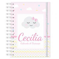 Caderneta de Vacinação personalizada nuvem chuva de amor