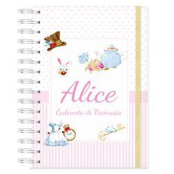 Caderneta de Vacinação personalizada mundo Alice