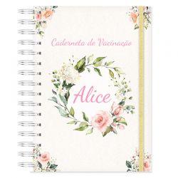 Caderneta de Vacinação personalizada floral