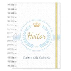 Caderneta de Vacinação personalizada Príncipe e coroa