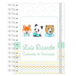 Caderneta de Vacinação personalizada raposinha bichinhos da floresta