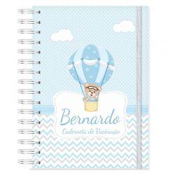 Caderneta de Vacinação personalizada ursinho e balões