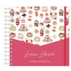 Caderno de Receitas Personalizado  Doces e Sobremesas
