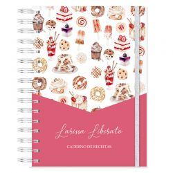 Caderno de Receitas Personalizado Tema Doces e Sobremesas
