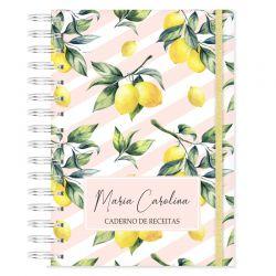 Caderno de Receitas Personalizado Tema tropical