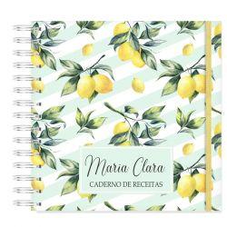 Caderno de Receitas Personalizado  tropical