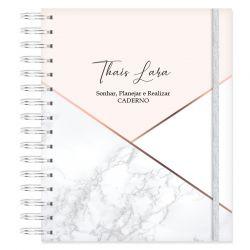 Caderno personalizado Elegante Marmorizado