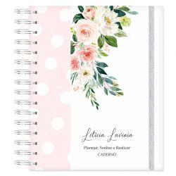 Caderno personalizado Floral