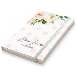 Caderninho Moleskine Personalizado - Floral