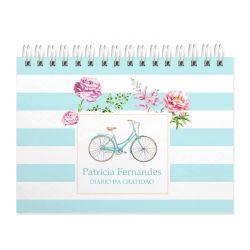 Caderno da Gratidão personalizado Bicicleta