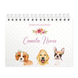 Diário da Gratidão personalizado cachorrinhos