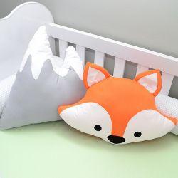 kit 2 Almofadas decorativas para o quarto do bebê tema raposinha  e montanha