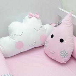 kit 2 Almofadas decorativas para o quarto do bebê tema chuva de amor e nuvens