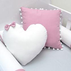 kit 2 Almofadas decorativas para o quarto do bebê tema rosa seco e cinza
