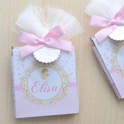 Lembrança personalizada de menina com tema ajinho e estrelinhas bloco de anotações