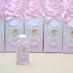 Lembrancinha de maternidade caixinha com álcool gel anjinha e floral