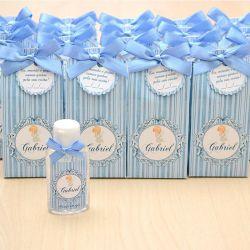 Lembrancinha de maternidade caixinha com álcool gel anjinho