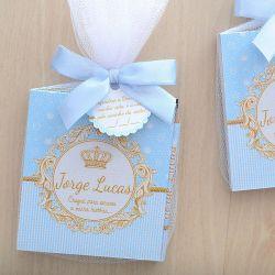 Lembrancinhas personalizadas para maternidade de menino bloquinho tema coroa e reinado